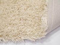 Schöner und weicher Hochflor Teppich Brüssel 11 Weiß