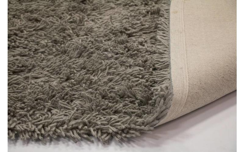 Schöner und weicher Hochflor Teppich Brüssel 22 Grau