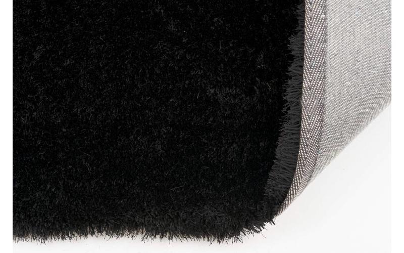 Hochflor Teppich Ross 25 Schwarz