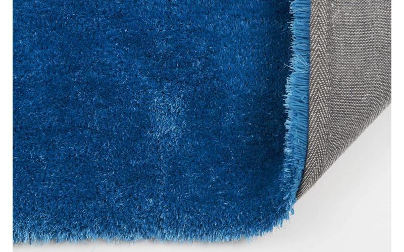 Hochflor Teppich Ross 33 Blau