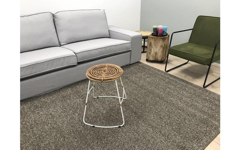 Preiswerter Hochflor Teppich Tore 17 Braun/Grau