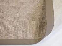 Wollteppich Castle 16 Braun/Grau mit Bordüre aus Baumwolle