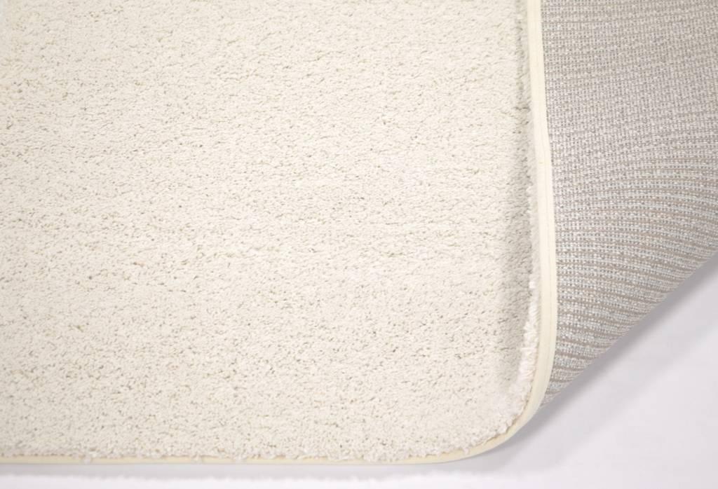 sch ner und weicher hochflor teppich liv 11 rund in wei. Black Bedroom Furniture Sets. Home Design Ideas