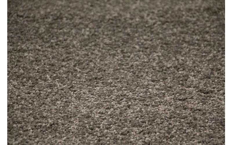 Hochflor Teppich Liv 23 rund in Dunkelgrau