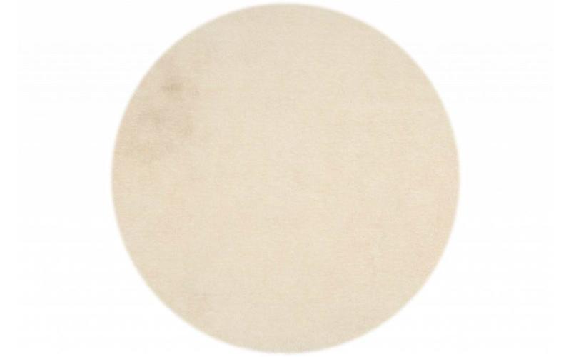 Hochflor Teppich Ross rund 11 Weiß