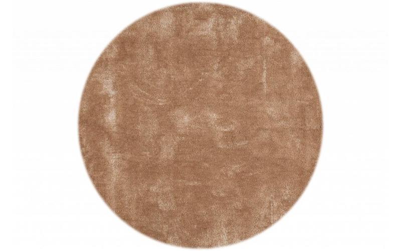Hochflor Teppich Ross rund 13 Beige
