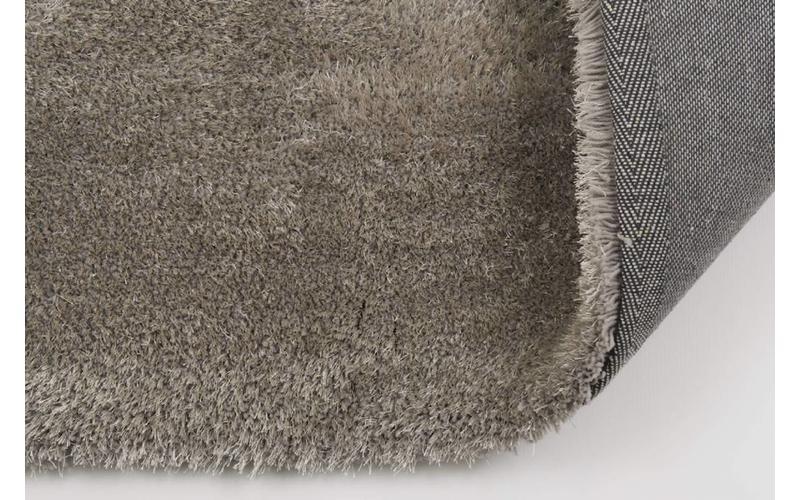 Hochflor Teppich Ross rund 21 Grau