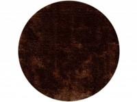 Hochflor Teppich Ross rund 19 Braun