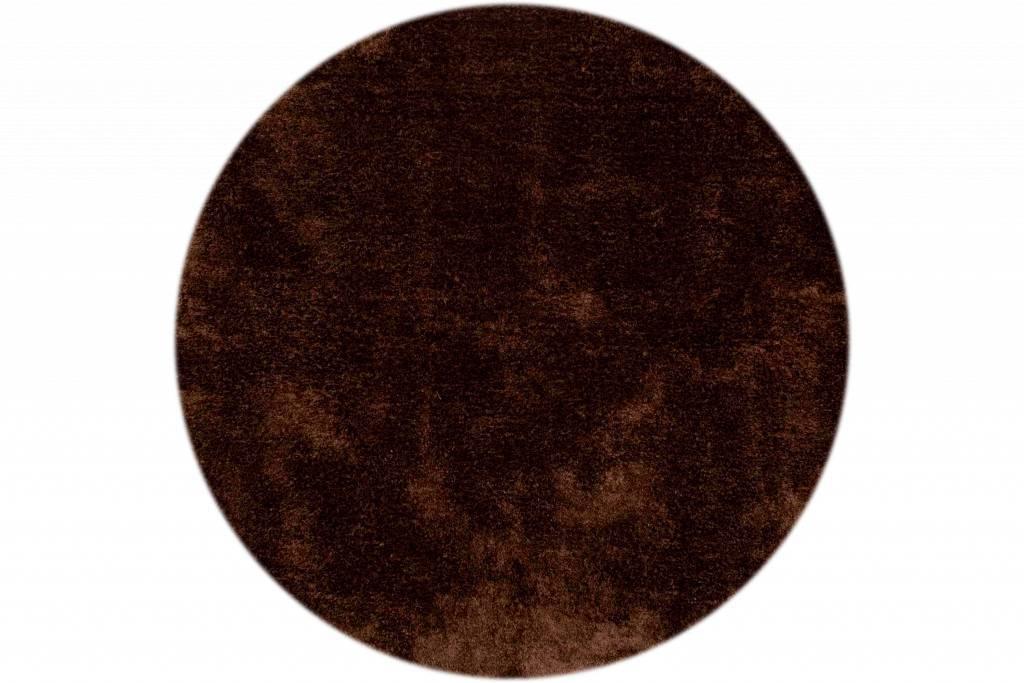 hochflor teppich ross rund 19 braun floorpassion. Black Bedroom Furniture Sets. Home Design Ideas