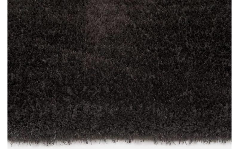 Hochflor Teppich Ross rund 24 Anthrazit