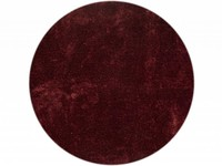 Hochflor Teppich Ross rund 47 Bordeaux
