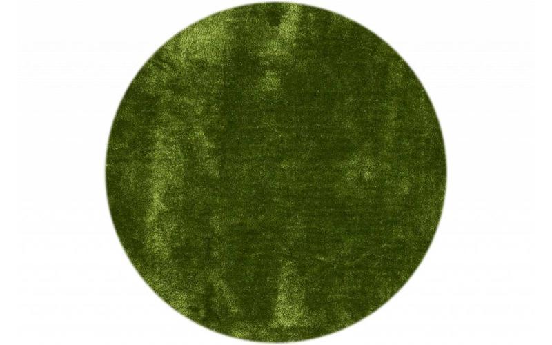 Hochflor Teppich Ross rund 52 Hellgrün