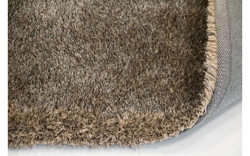 Hochflor Teppich Ross rund 16 Mix Beige/Grau