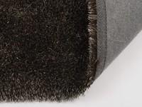 Hochflor Teppich Ross rund 18 Mix Braun