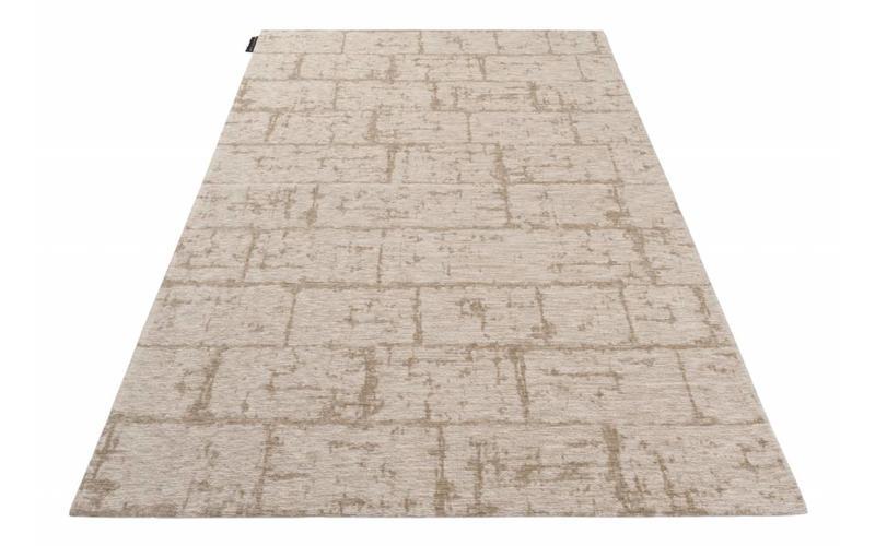 Vintage Teppich Brique Dessin 15 Beige