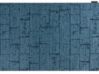 Vintage Teppich Brique Dessin 38 Indigo Blue