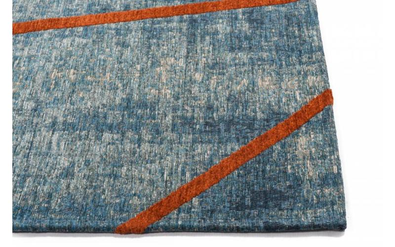 Hailey 33 - Schöner Teppich mit geometrischem Design in Blau/Orange