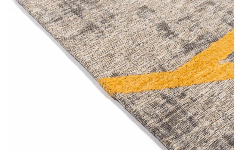 Hailey 62 - Schöner Teppich mit geometrischem Design in Steingrau/Gelb