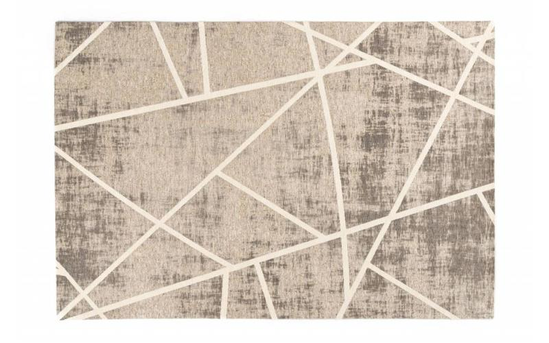 Hailey 12 - Schöner Teppich mit geometrischem Design in Steingrau/Crème