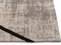 Hailey 25 - Schöner Teppich mit geometrischem Design in Steingrau/Schwarz