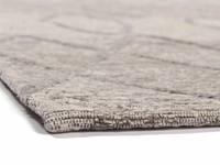 Bido 21 - Schöner Design Teppich in Hellgrau