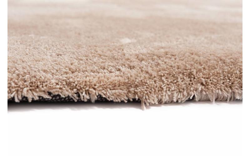 Moderner Hochflor Teppich Sandro 12 - Wüstensand
