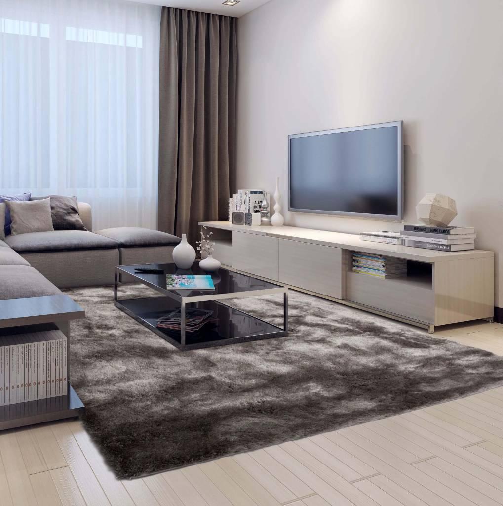 sch ner und weicher hochflor teppich reef 23 grau. Black Bedroom Furniture Sets. Home Design Ideas