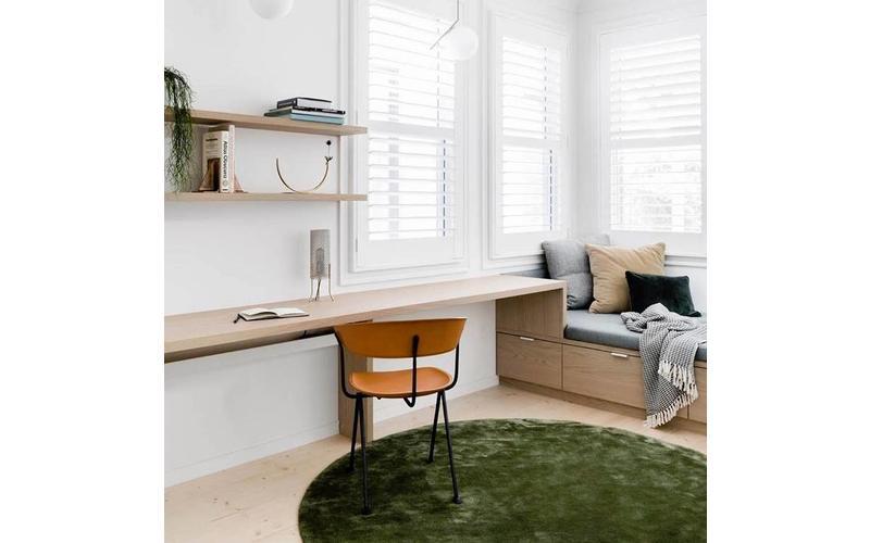 hochflor teppich ross rund 55 mix gr n anthrazit floorpassion. Black Bedroom Furniture Sets. Home Design Ideas