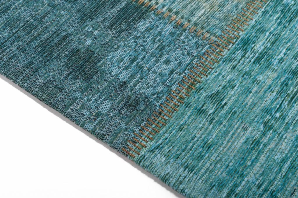 moderner vintage teppich in t rkis blau pognum 33. Black Bedroom Furniture Sets. Home Design Ideas