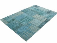 Pognum 33 - Einzigartiger Vintage Teppich in Türkis/Blau