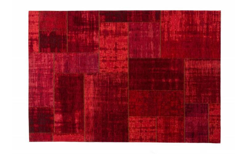 Pognum 45 - Einzigartiger Vintage Teppich in Rot