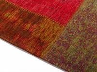 Pognum 98 - Einzigartiger Vintage Teppich mehrfarbig