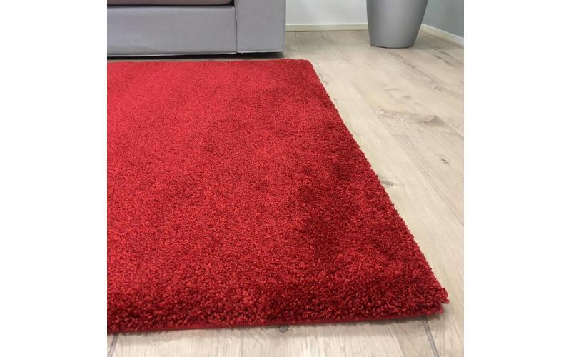 Hochflor Teppich Liv 45 in Rot