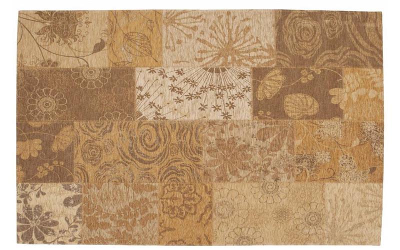 Chatel 13 – Patchwork Teppich mit schönem Blumenmuster in Beige