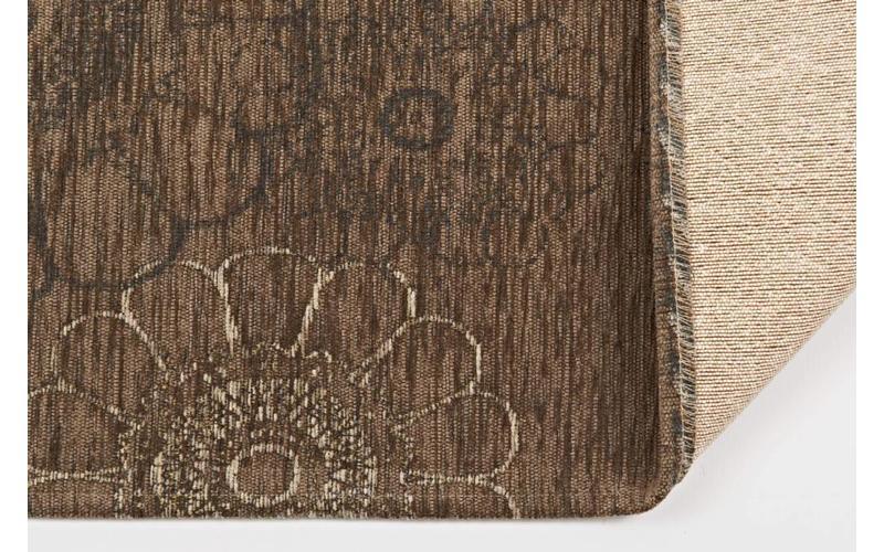 Chatel 17 – Patchwork Teppich mit schönem Blumenmuster in Braun