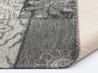 Chatel 24 - Patchwork Teppich mit schönem Blumenmuster in Schwarz