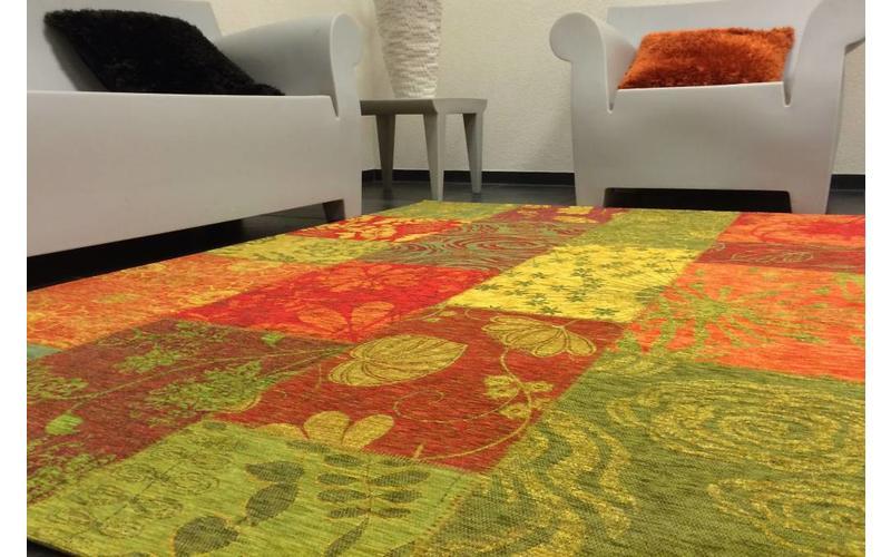 Chatel 99 - Patchwork Teppich mit schönem Blumenmuster mehrfarbig