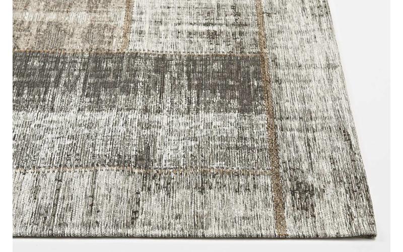 Enzo 16 - Vintage Patchwork Teppich in Braun/Grau