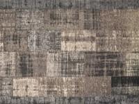 Enzo 22 - Vintage Patchwork Teppich in Schwarz & Grau