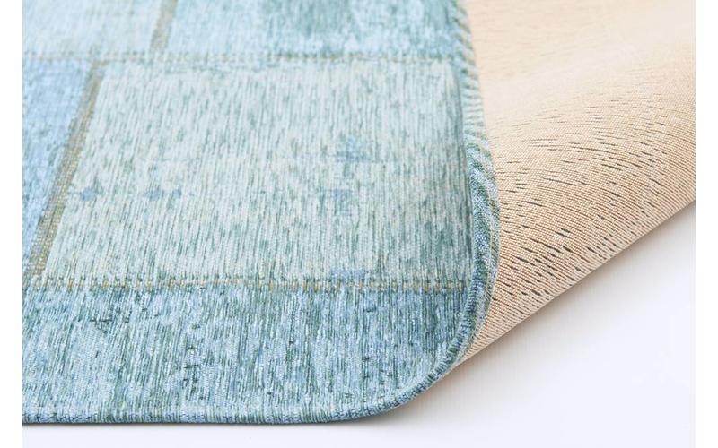 Enzo 33 - Vintage Patchwork Teppich in Türkis