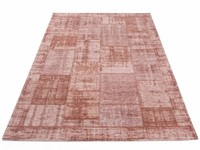 Enzo 44 - Vintage Patchwork Teppich in Altrosa