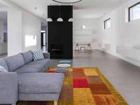 Enzo 98 - Vintage Patchwork Teppich in Gelb, Rot und Orange