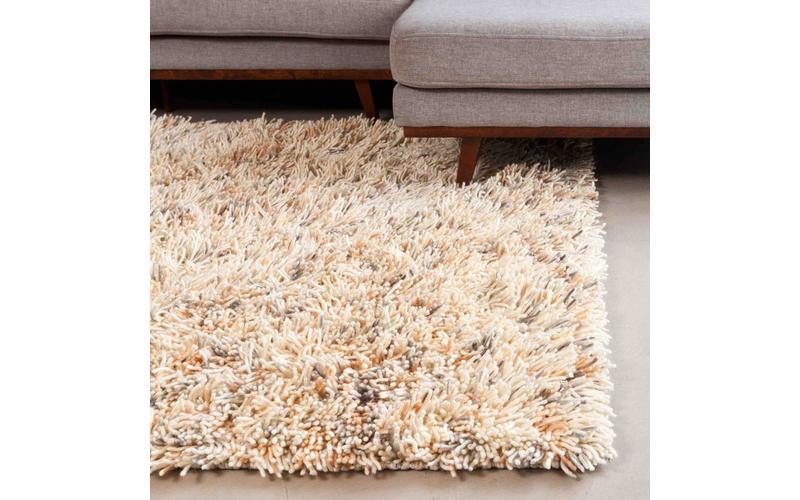 Schöner und weicher Hochflor Teppich Brüssel 21 Beige