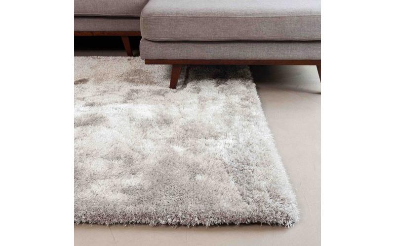 Hochflor Teppich Ross 21 Grau