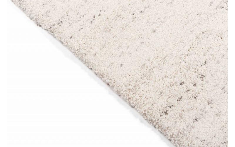 Amerie 11 – Hochflor Teppich in Weiß mit Grau