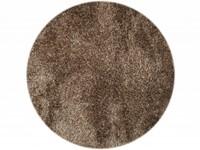 Hochflor Teppich Chester 13 Braun Mix rund