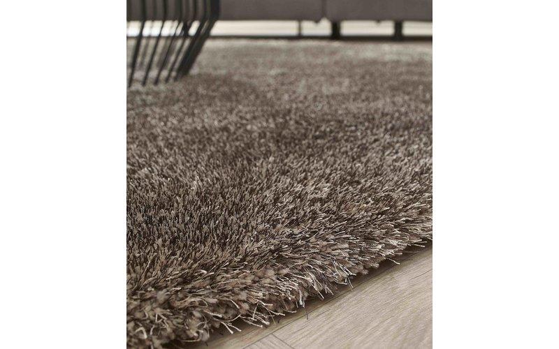 Hochflor Teppich Ross rund 22 Mix Grau