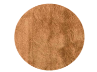 Noëlle Riche 69 - Rond vloerkleed in hoogpolig goud/bruin