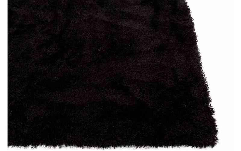 Cellia 26 - Hochflor Teppich in Anthrazit / Schwarz