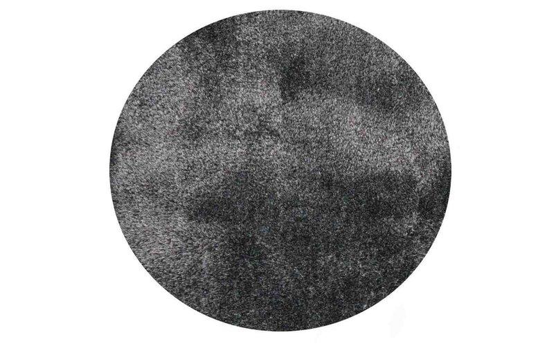 Hochflor Teppich Ross rund 31 Mix Hellgrau/Blau